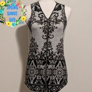 *Final* Vocal Grey and Black Full Zippered Tank S
